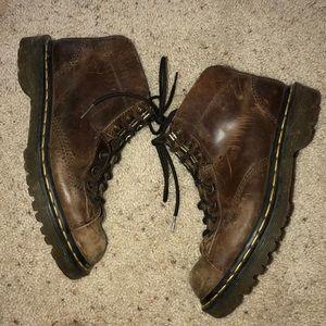 vintage brown leather doc martens !